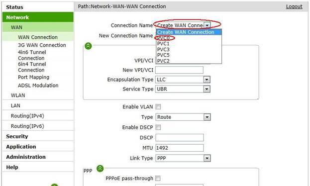 WAN Connection