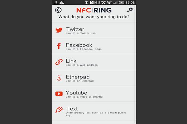 Чтобы настроить NFC кольцо, включите NFC Android Beam на смартфоне