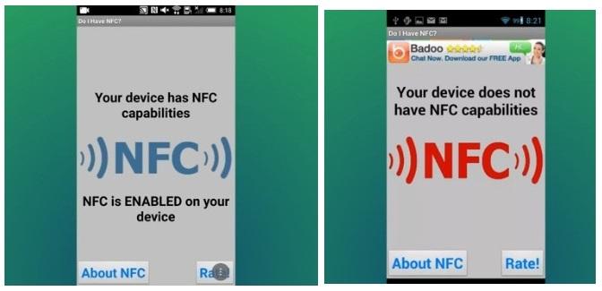 Проверка модуля NFC на телефоне с помощью приложения Do i have NFC