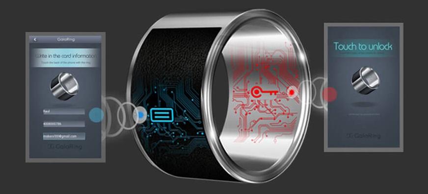 Кольцо с нфс модулем не отличается в использовании от умного браслета