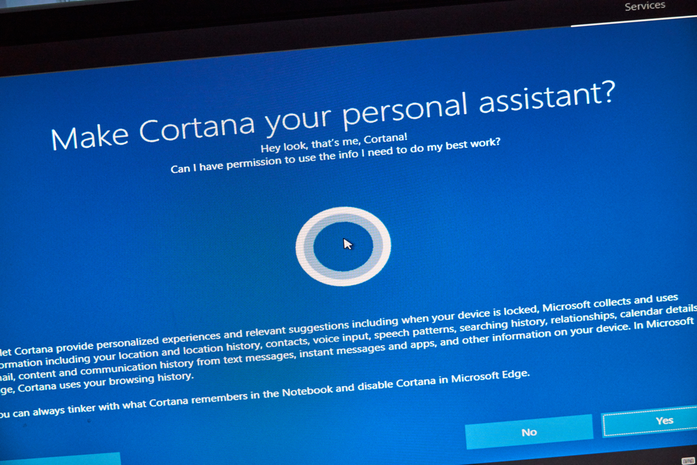 cortana windows 10 как включить